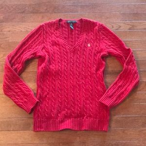 Women's Ralph Lauren Red Sweater SizeXS